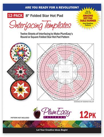Hot Pad Interfacing Templates 12 pack