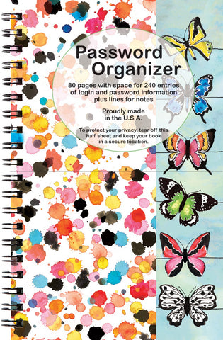 Password Organizer - Butterfly