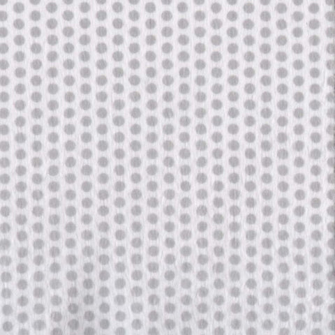 Silver & White Swiss Dots Minky