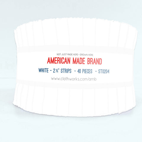 American Made Solid White Fabric Roll