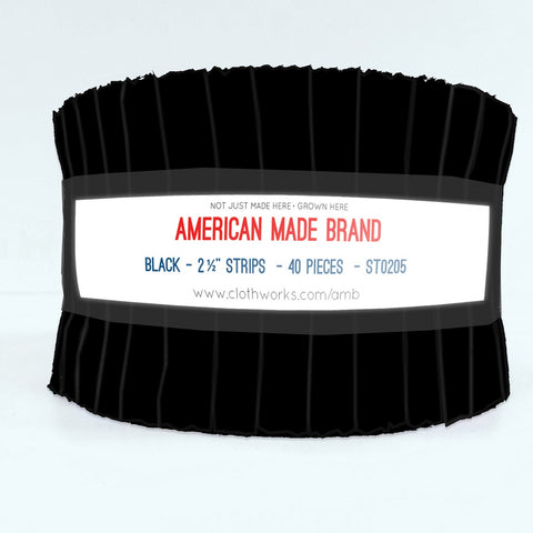 American Made Solid Black Fabric Roll
