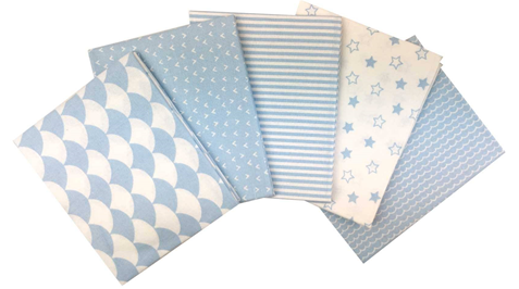 Nursery Basics - Blue Fat Quarter Bundle