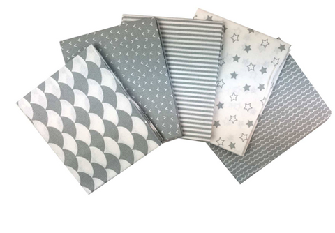 Nursery Basics - Grey Fat Quarter Bundle