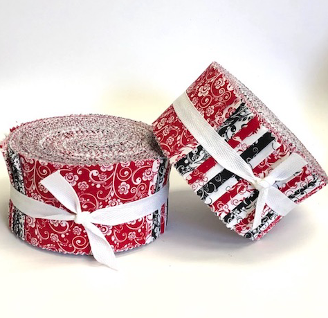 Red, White & Black Fabric Roll