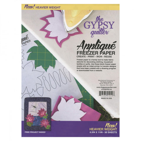 "Gypsy Quilter Freezer Paper 8 1/2""x11"" Heavy Weight 50 count"