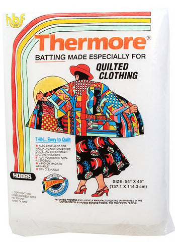 "Batting Thermore Ultra Thin (54"" x 45"")"