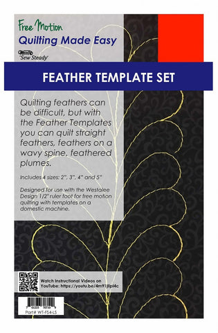 Feather Template (4pc Set Low Shank)