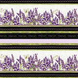 Sweet Lavender - Cream Floral Stripe