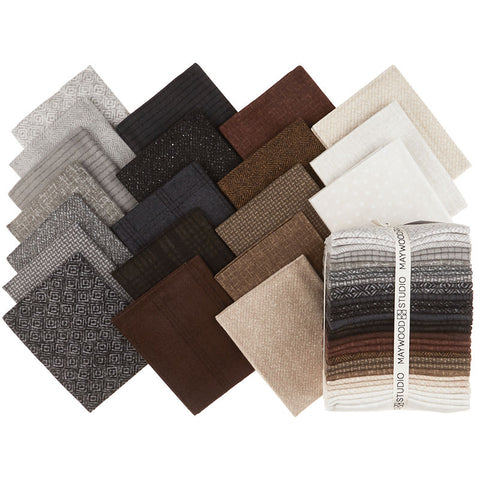 Woolies Flannel Neutrals Vol. 2 Fat Quarter Bundle