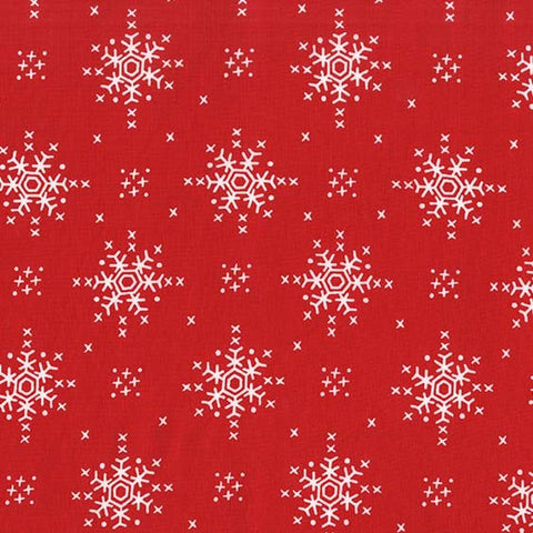 Stitch Snowflake (red) - Woodland Winter