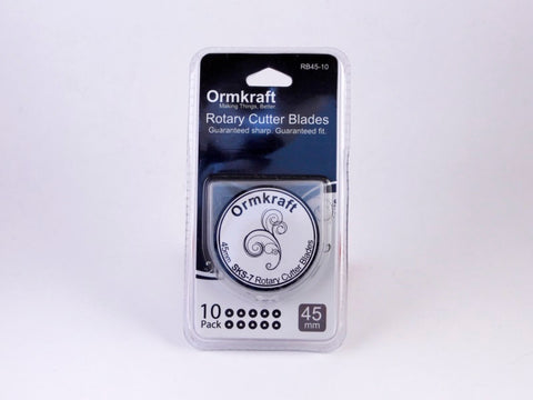 Ormkraft 45mm Rotary Cutter Blades (10 per package)