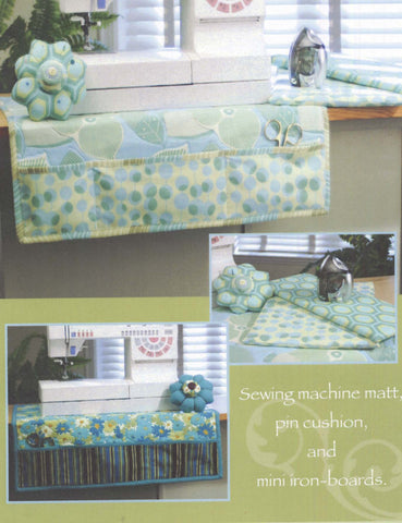 Sew Happy - Sewing machine mat, pin cushion and mini iron-boards