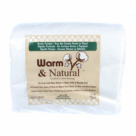 "Warm & Natural Batting in a Bag - King size (120""x124"")"
