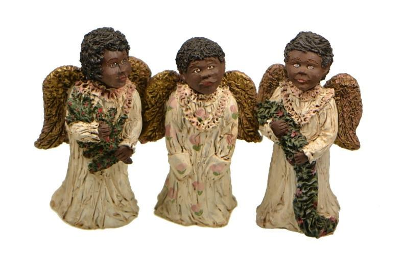 Collectibles | Black Children Angel Figurines | Gifts and Collectibles