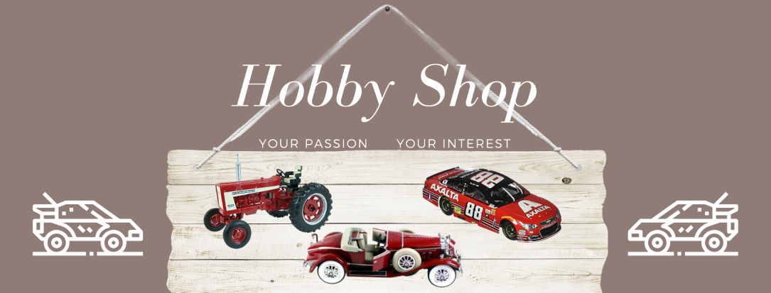 Welcome to our Hobby Shop where you can find remote control cars, Diecast vehicles and model cars and tractors
