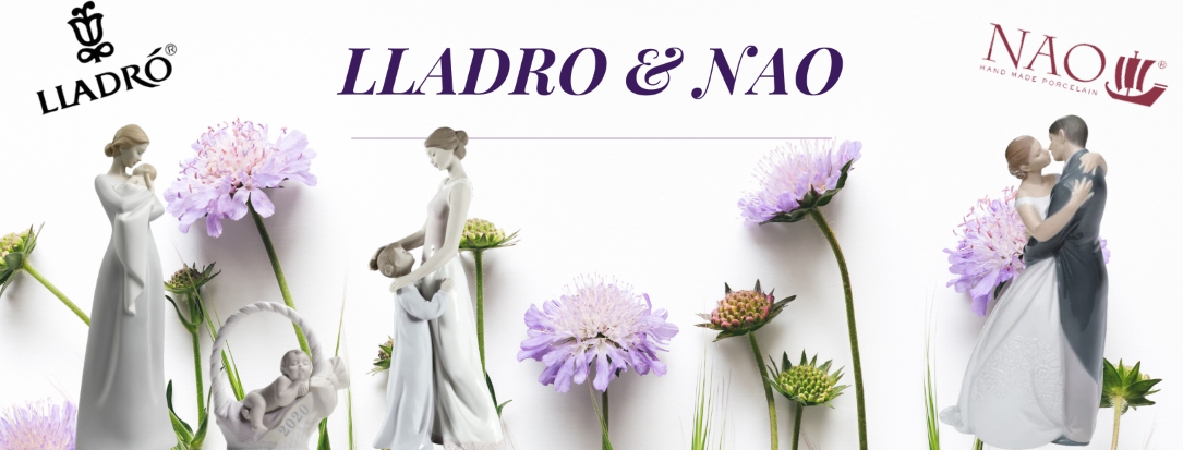 Lladro and NAO porcelain figurines