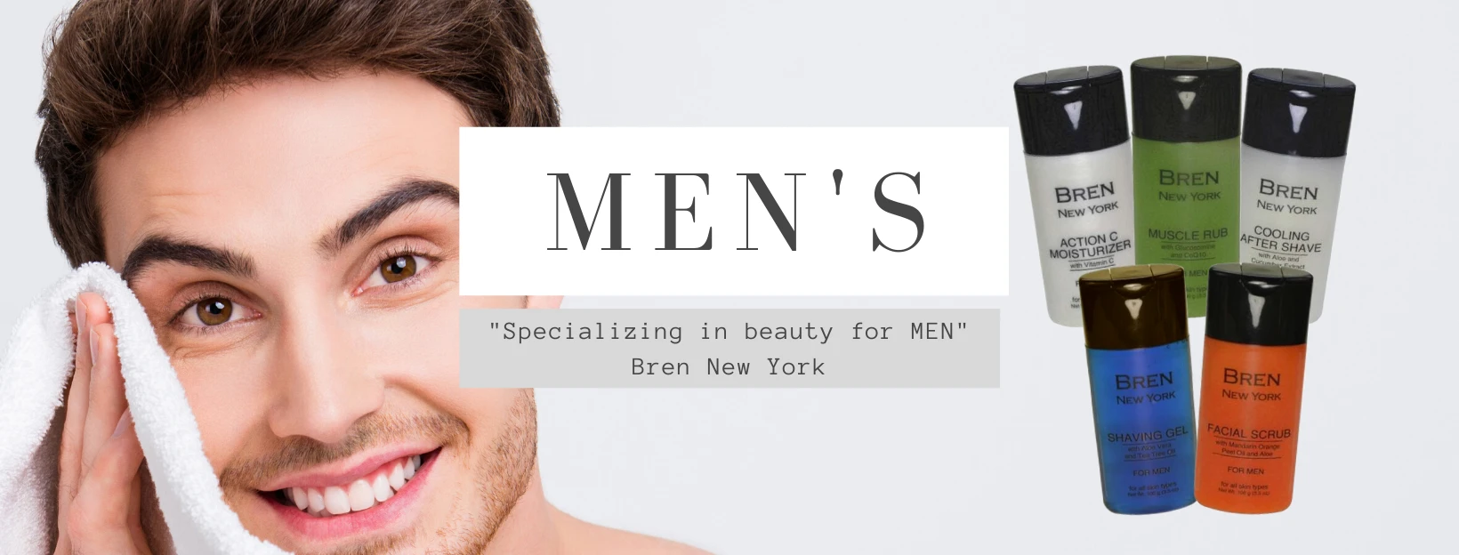 Skincare for men is best if kept simple. Include a shaving gel, aftershave, moisturizer and facial scrub