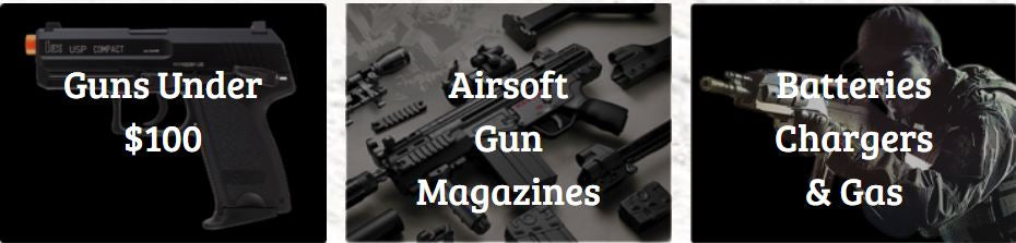 Spring Airsoft Guns and Rifles