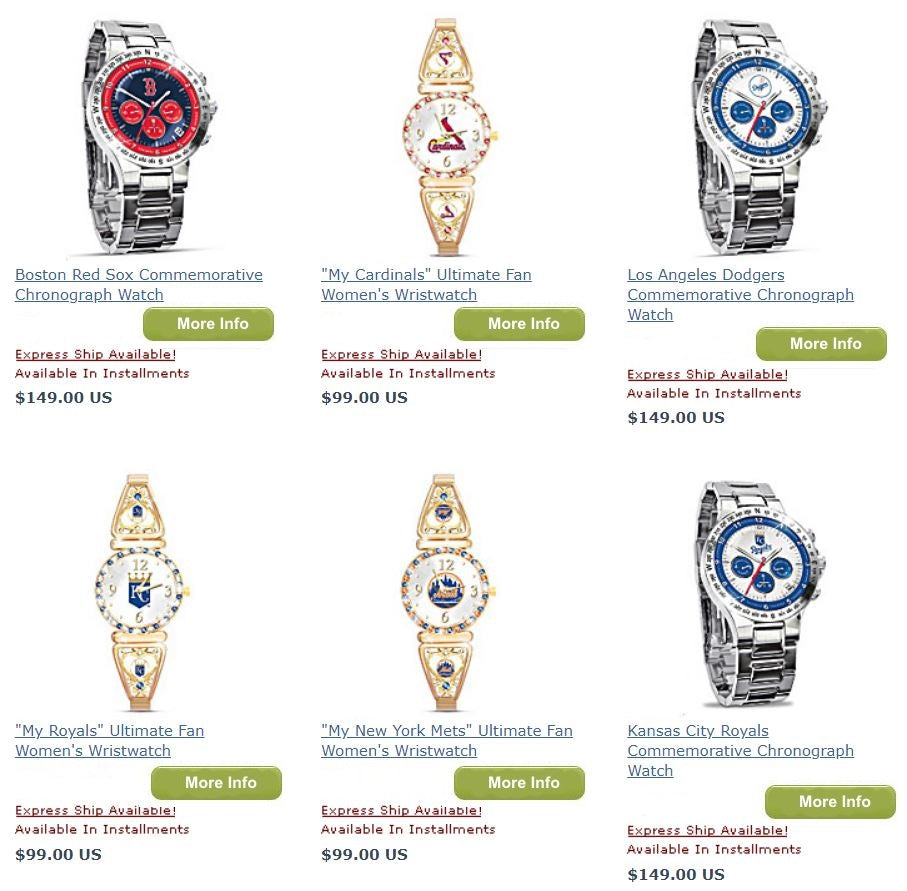 Men and Women Baseball Watches