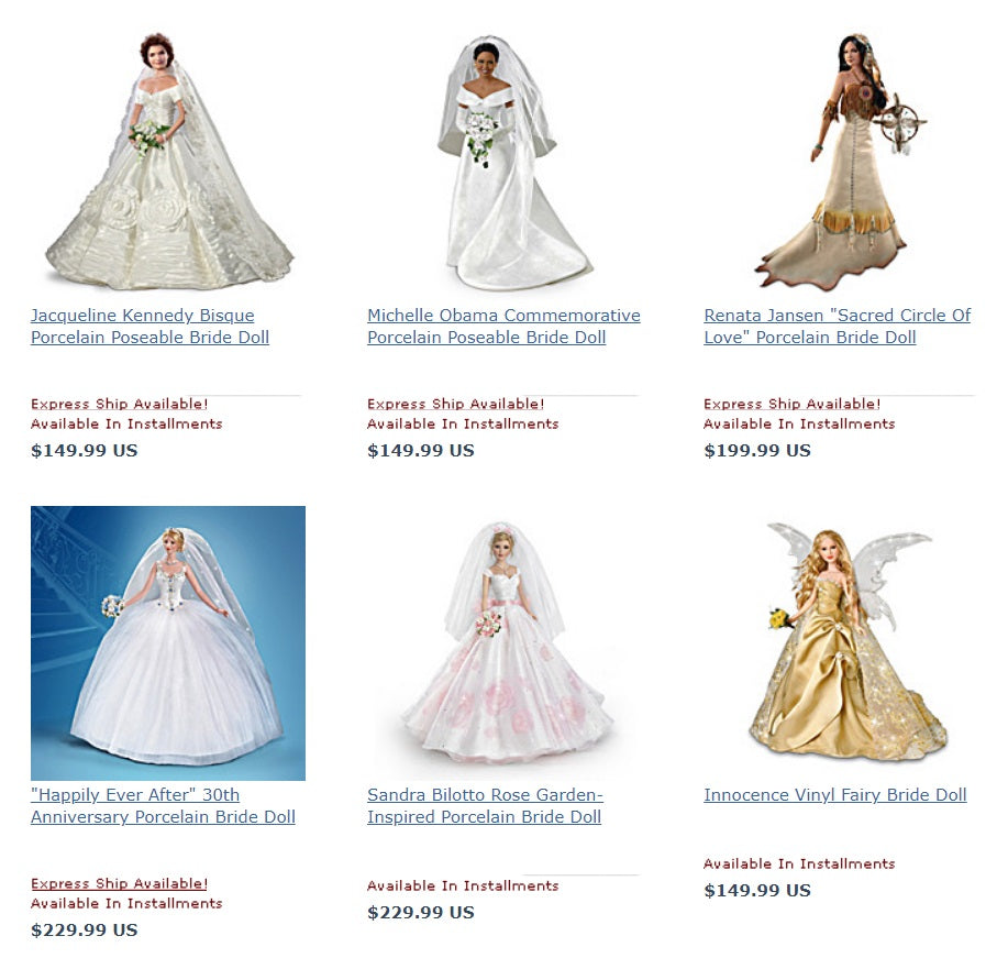 Bride Dolls For Sale