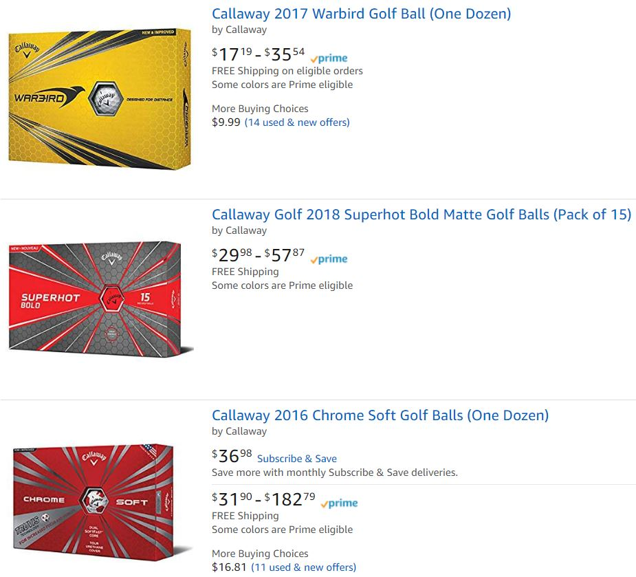 Callaway Gollf Balls For Sale