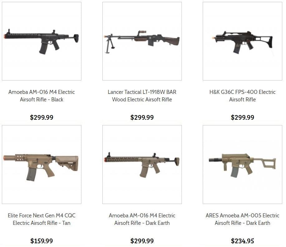 Electric Airsoft Guns and Rifles