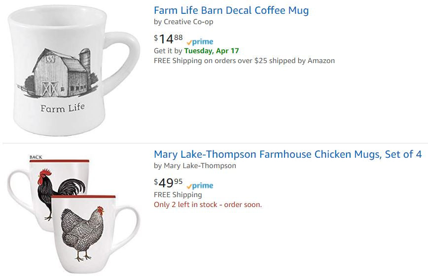 Farm and Country Coffee Mugs