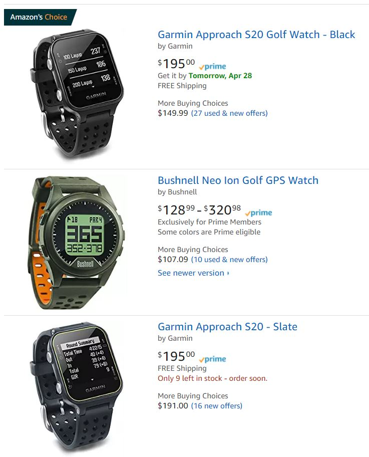 Golf Watches For Sale