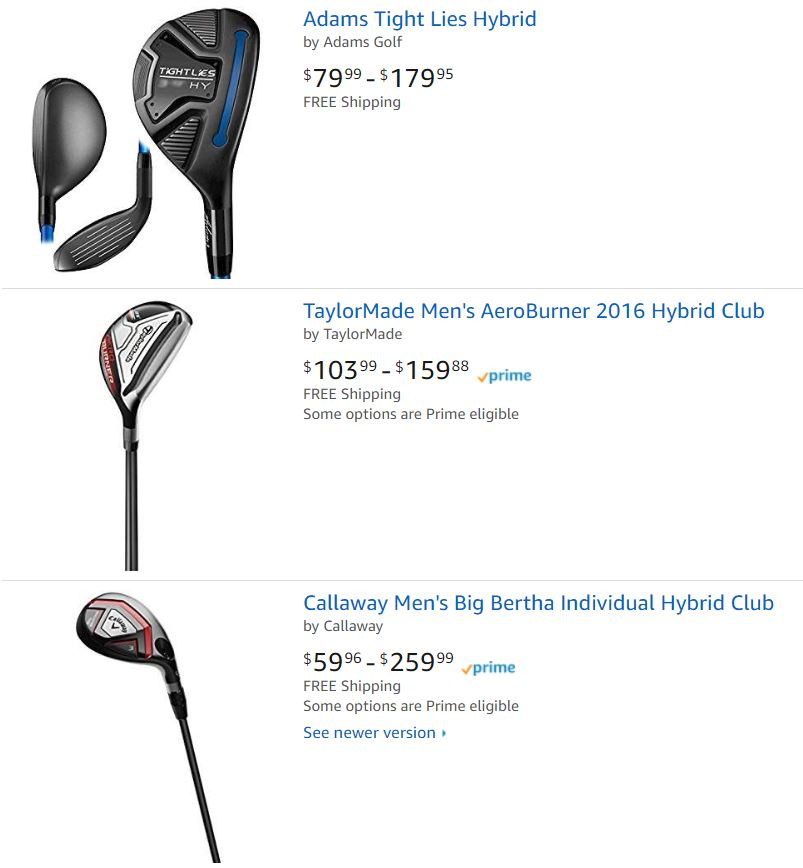 Hybrid Golf Clubs For Sale