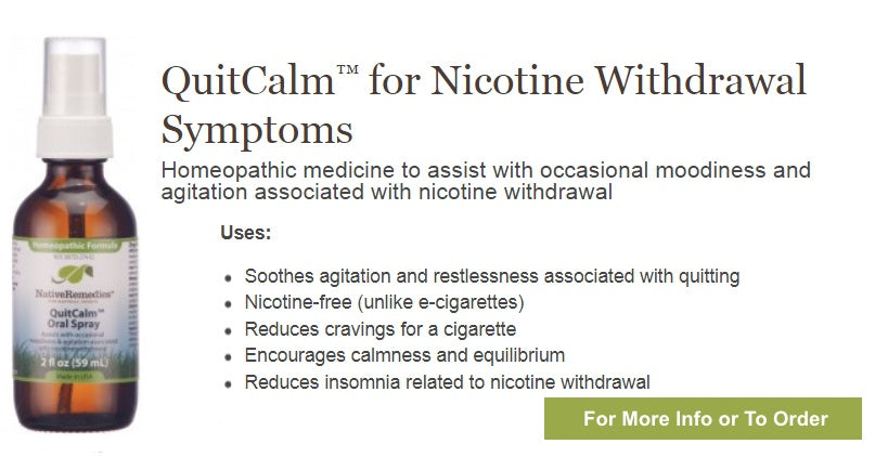 Supplement for nicotine withdrawal symptoms