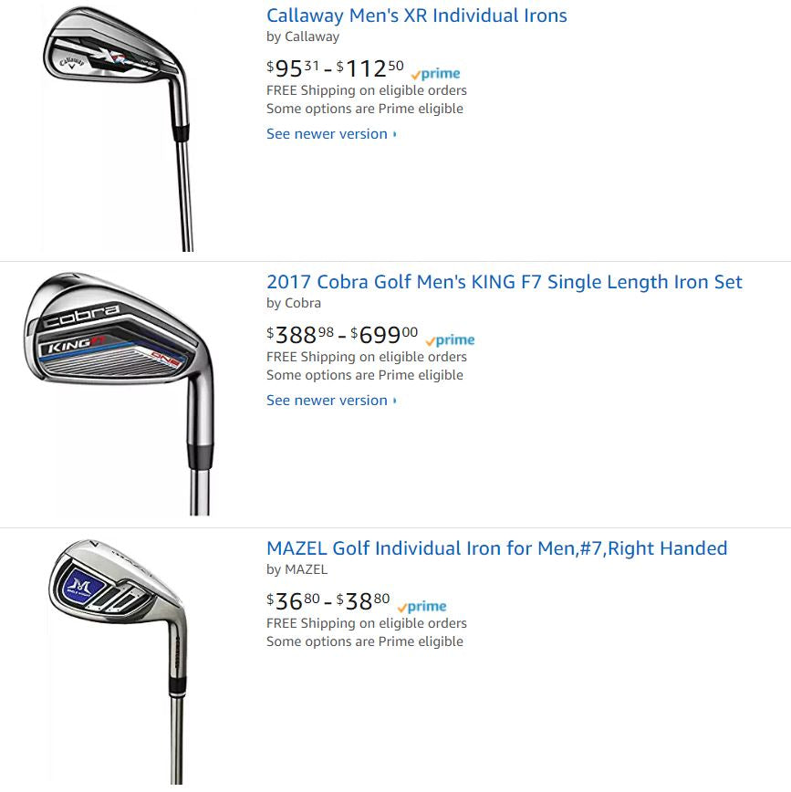 Golf Club Irons For Sale