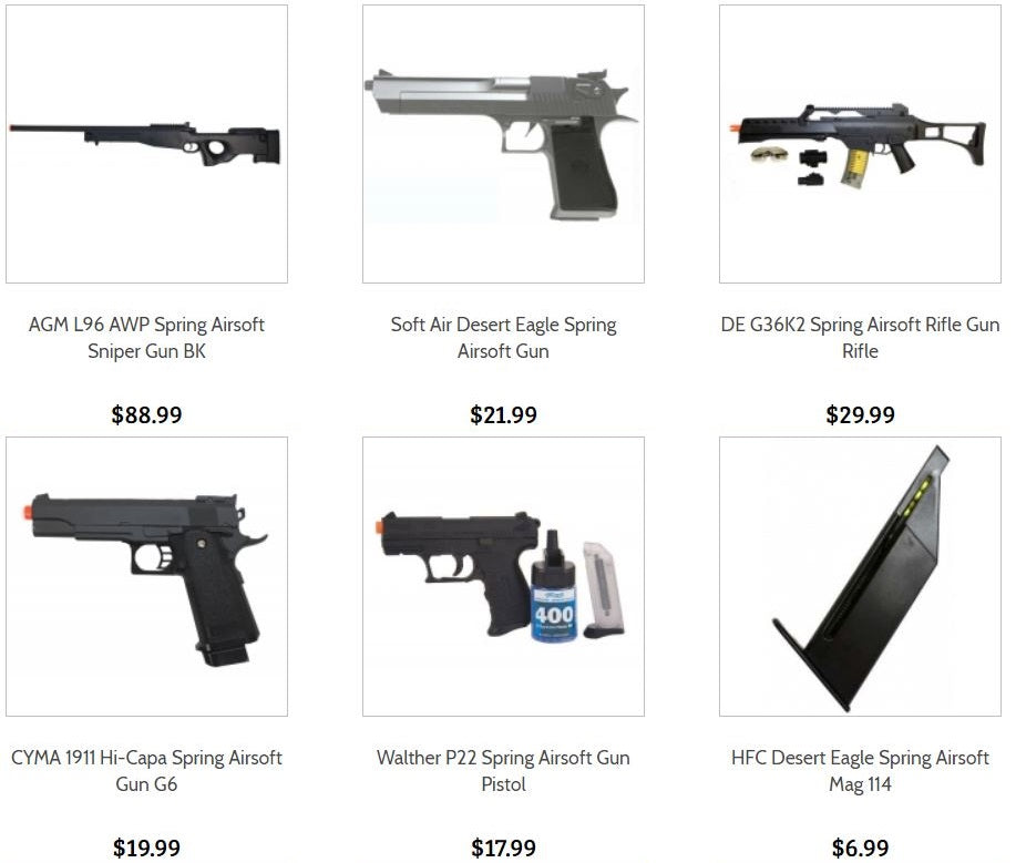 Airsoft Guns and Rifles