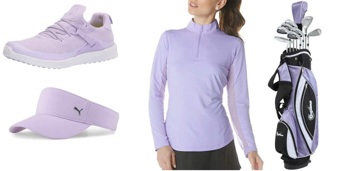 Lavender Golf Clubs and Golf Clothes For Women