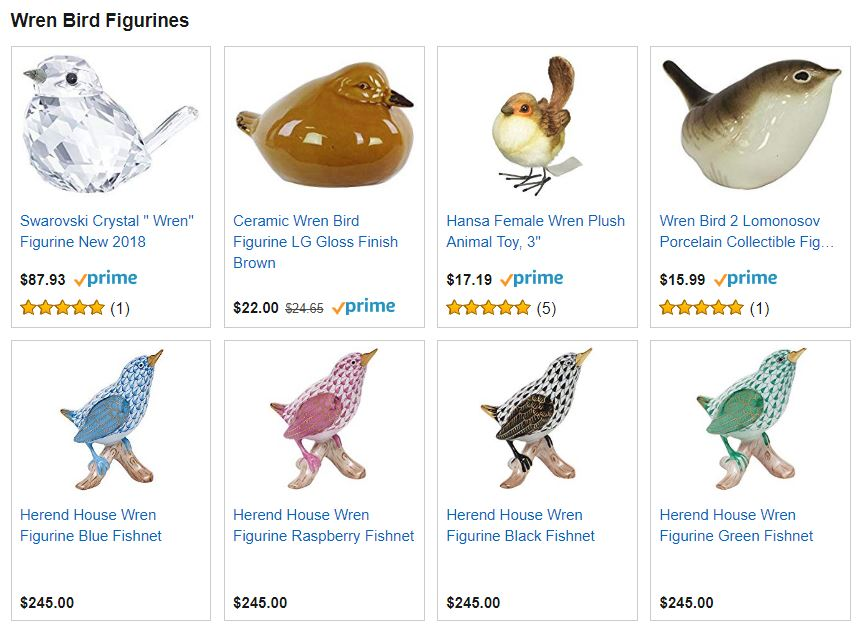 Wren Bird Figurines