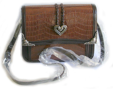 Fashion | Handbag with Heart Medallions and Braid Trim