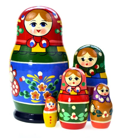 Dolls | Matryoshka Russian Nestings Dolls Zagorsk #104052-7