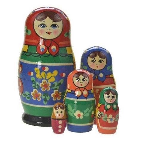 Dolls | Matryoshka Russian Nestings Dolls Zagorsk #104052-2