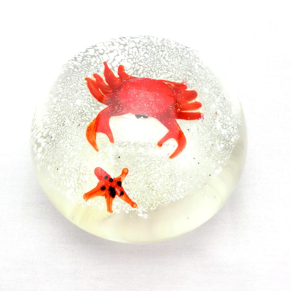 Art Glass Paperweight Crab For Sale #12 | OneGreatShop.com