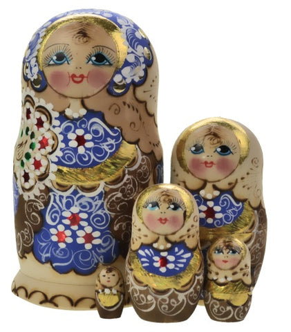 Dolls | Matryoshka Russian Nestings Dolls Woodburn #120052-B