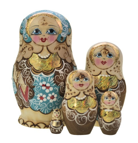 Dolls | Matryoshka Russian Nestings Dolls Woodburn #120052-T