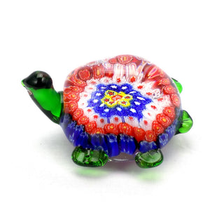 Art Glass Paperweight Millifiori Turtle #13 | OneGreatShop.com