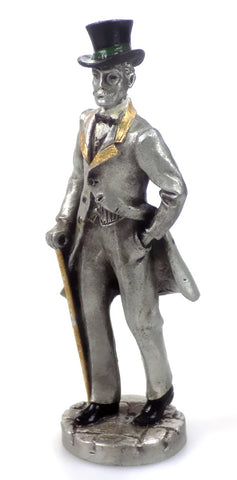 Christmas Village  People Hudson Pewter Villagers Mr. Reginald 4210