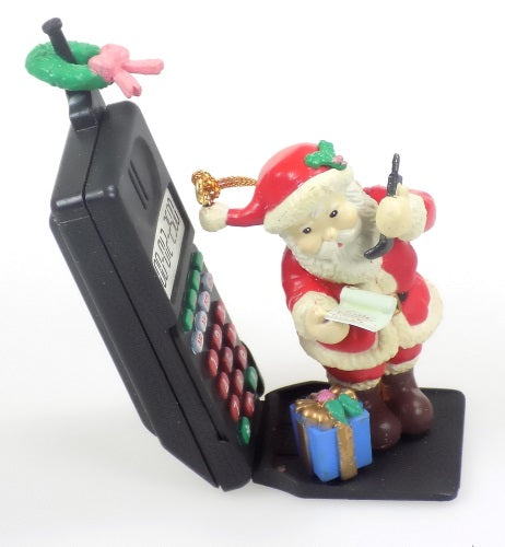 Holiday | Christmas Ornaments Santa On Cell Phone #15