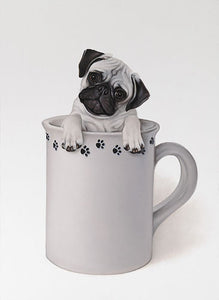 Art Print | The Little Pug In A Mug Print by Brett Longley