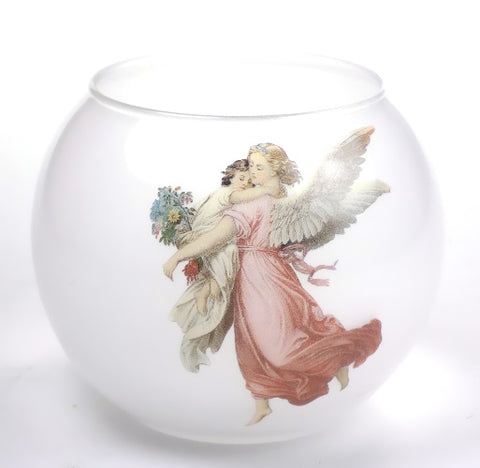 Angels | Glass Angels Votive Candle Holder