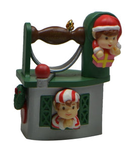 Holiday | Christmas Ornaments Sewing Machine with Two Elves #16