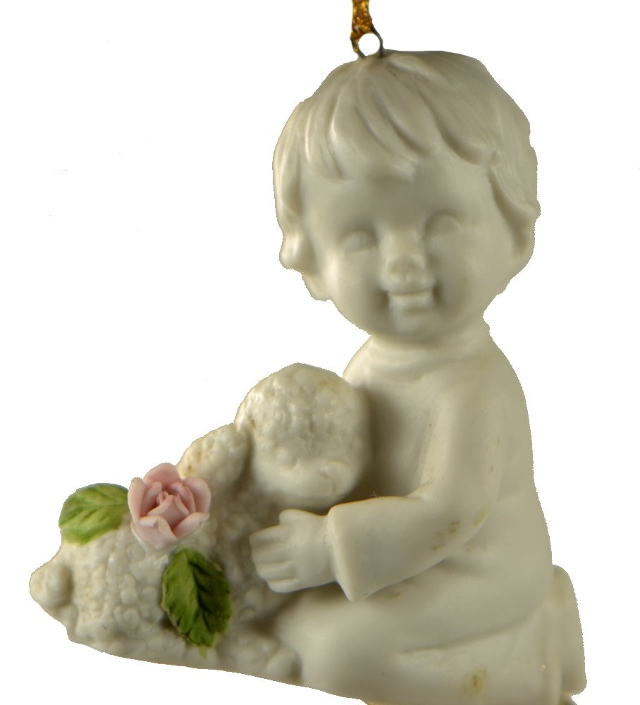 Holiday | Christmas Ornaments Child Rose with Lamb
