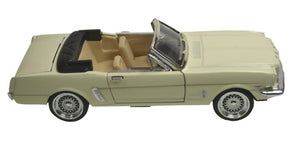Die Cast Cars | 1965 Ford Mustang-cream-color