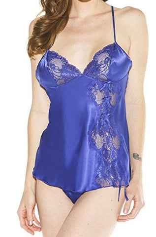 Lingerie | Blue Babydoll and Thong Size Small #20016