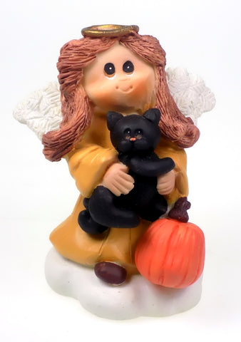 Angel Figurines Halloween Theme